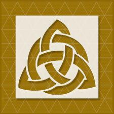 Celtic Trinity 4x4 - 5.5x5.5 - 8x8 - 11x11 -Celtic Tribal Knot Triquetra Stencil