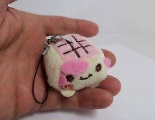 Plush Kawaii Hannari Tofu CellPhone Charm Strap Pink