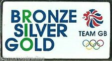 RIO BRONZE SILVER GOLD LIMITED EDITION OFFICIAL TEAM GB RIO 2016 OLYMPIC PIN