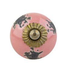 Möbelknöpfe Möbelgriffe Möbelknopf Keramik Vintage Shabby SD-69 R5-320 rosa