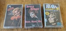 Teresa Brewer 3 NEW/SEALED Cassette Lot - Midnight Cafe, Music, Best of - $3 S/H