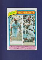 Brock/Yastrzemski Highlights HOF 1980 TOPPS Baseball #1 (NM) St. Louis Cardinals