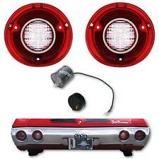 72 Chevy Chevelle SS & Malibu LED LH & RH Back Up Light Lamp Lens & Flasher Pair