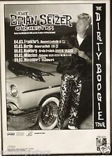 """BRIAN SETZER ORCHESTRA """"DIRTY BOOGIE TOUR"""" 1998 GERMAN CONCERT POSTER-Stray Cats"""