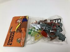 Vintage New In Package COWBOYS & INDIANS Plastic Toy Figures HONG KONG