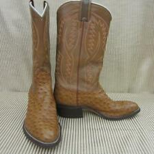 NOCONA OSTRICH AND LEATHER WESTERN BOOTS, MEN'S SIZE 8.5 D