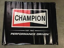 CHAMPION SPARK PLUGS Banner POSTER Garage Man Cave ornament Decoration