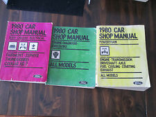 Ford 1980 Car Shop Manual Set 3 Volumes Body Chassis Electrical Emissions Power