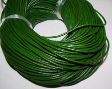 10M  GREEN  GENUINE LEATHER CORD 2mm