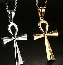 Women Jewelry Necklace Stainless Steel Religion crucifix Pendant Egyptian cross