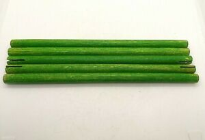 Tinkertoy Wood 7 inch Green Rods Replacement Parts Lot of 5