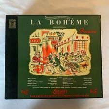 PUCCINI-LA BOHEME-TEBALDI-LONDON ffrr LLP-462 2-LP VINYL BOX-33 1/3 LONG-ENGLAND