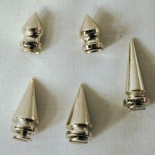 24 SM METAL screw on SPIKES leather jacket spike 14MM jewely design craft item
