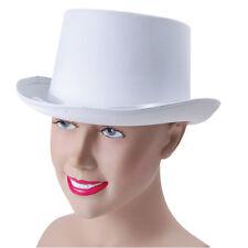 # chapeau Haut-de-forme blanc ASPECT SATIN DÉGUISEMENT ADULTE