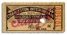 Charleston, West Virginia Interurban Electric Railroad Ticket