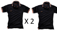 Scruffs Womens Ladies Polo Work Top Black Twin Pack