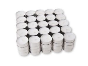 White Unscented Tea Light Candles  RESTAURANT TEA LIGHTS 1,5,22, 25,50,100,200