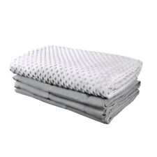 """COMHO Premium Adult Weighted Blanket & Removable Minky Cover 60""""x80"""" 15 lbs"""