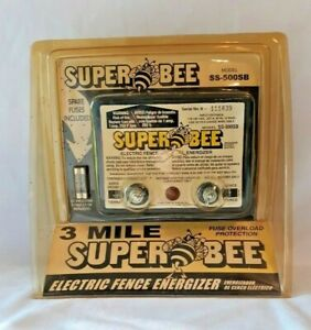 Super Bee Electric Fence Controller/Energizer 3 Mile Model SS-500SB