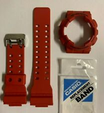 Casio Original G-Shock  Band  GA-100B-4  GA-110FC Red & Bezel  GA100B-4  GA-100