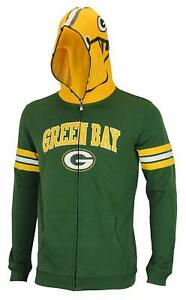 NFL Youth Green Bay Packers Full Zip Helmet Masked Hoodie
