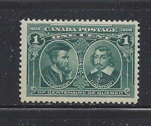 CANADA - 97 - MH - 1908 -  CARTIER &  DE CHAMPLAIN - QUEBEC TERCENTENARY