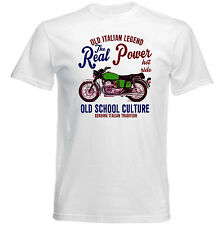 VINTAGE ITALIAN MOTORCYCLE MOTO GUZZI 850 GT REAL POWER - NEW COTTON T-SHIRT