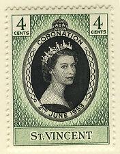 ST VINCENT 1953 CORONATION BLOCK OF 4 MNH