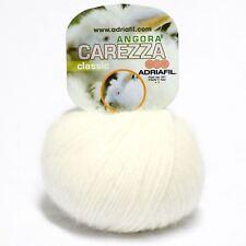 Adriafil Carezza Angora Aran Yarn / Wool 25g - Cream (11)