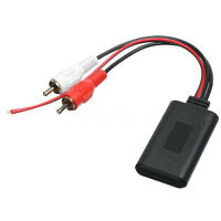 2RCA AUX IN Universal Wireless Bluetooth Cable Adapter Car Stereo Audio Input τ