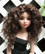 """Doll Wig, Monique Gold """"Ellowyne Rose"""" Size 6/7 in Brown Black"""