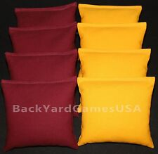 Redskins Gophers Arizona Cornhole Bean Bags Maroon & Yellow 8 All Weather Resin