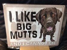 Like Big Mutts Cannot Lie Funny Sayings Sign Tin Vintage Garage Bar Decor