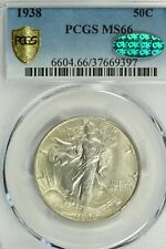 1938 Walking Liberty Half Dollar PCGS MS66  CAC Sticker
