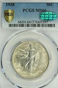 1938 Walking Liberty Half Dollar PCGS MS66  CAC Sticker