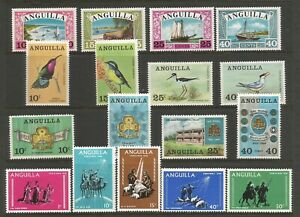 Anguilla 1968 Full Year Sets SG 32 / 48 Mounted Mint
