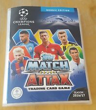 Champions League 2016/17. 423 different NORDIC cards in nordic binder