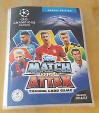 Champions League 2016/17. Complete NORDIC Binder all 451 + 15 LE + 27 Exc+18 FCK