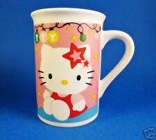 Hello Kitty Christmas Coffee Mug Pink Cat Cup Sanrio Lights Pink Tree