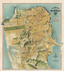 1911+Map+San+Francisco+The+Chevalier+Commercial+Pictorial+Tourist+Poster+11%22x12%22