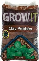 GROW!T Horticultural Clay Pebbles 40 Liter Bag 4mm To 16mm For Healthier Plants