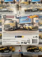 (1) Hot Wheels Legends Tour Team Transport Corvette And Carry IN HAND SHIPS NOW