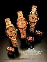 Vintage 1987 Rolex Crown Collection Watch Print Ad