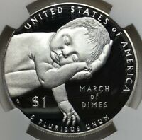 2015 W NGC PF69 Ultra Cameo MARCH of DIMES Silver US Dollar $1 ~ 1st DAY ISSUE!!