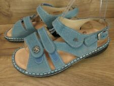 Finn Comfort Baby Blue Gomera Womens Sandals 38 7 7.5 $255