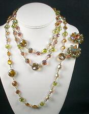 Kramer Bezel Set Sautoir Necklace & Earrings