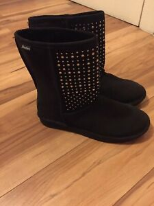 Skechers boots black with diamonte detail UK 5