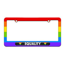 Equality Gay Lesbian Rights License Plate Tag Frame Rainbow Design