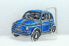 Classica FIAT 500 Cintura Fibbia in metallo-blu-regalo perfetto per auto Merchandise