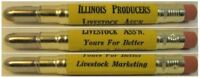 RESTORED Vintage Bullet Pencil - Illinois Producers Livestock EF1085